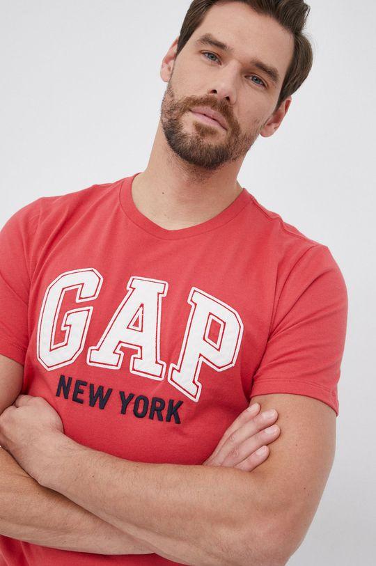 czerwony GAP - T-shirt bawełniany Męski