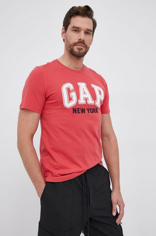 czerwony GAP - T-shirt bawełniany