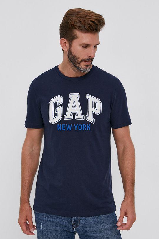 granatowy GAP - T-shirt bawełniany Męski