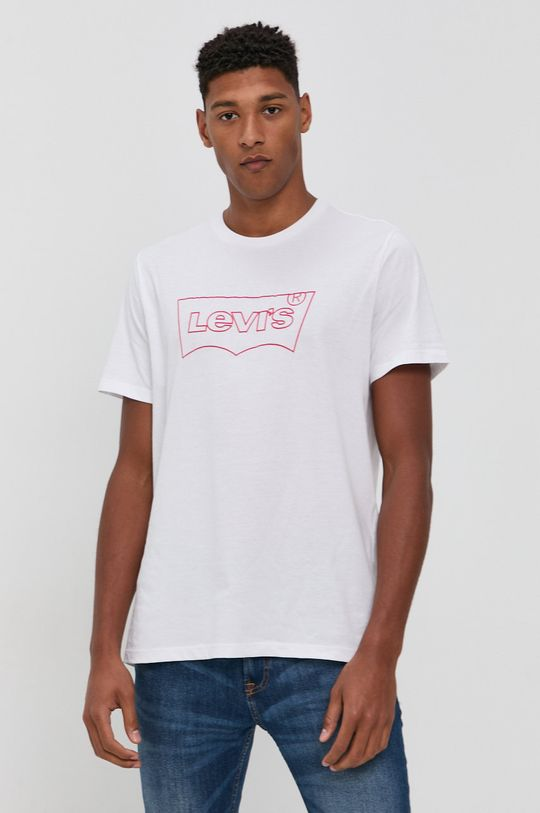 bílá Levi's - Bavlněné tričko