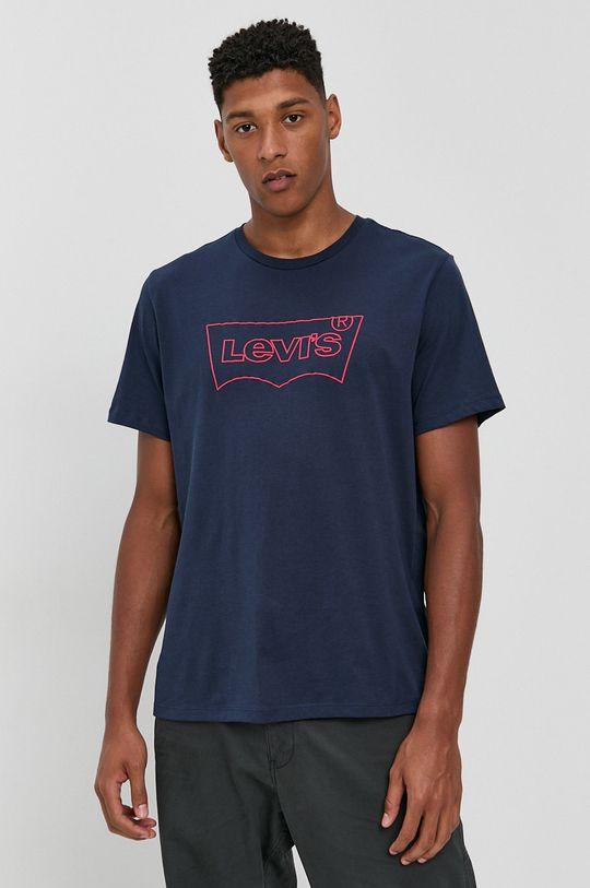 Levi's - T-shirt bawełniany granatowy