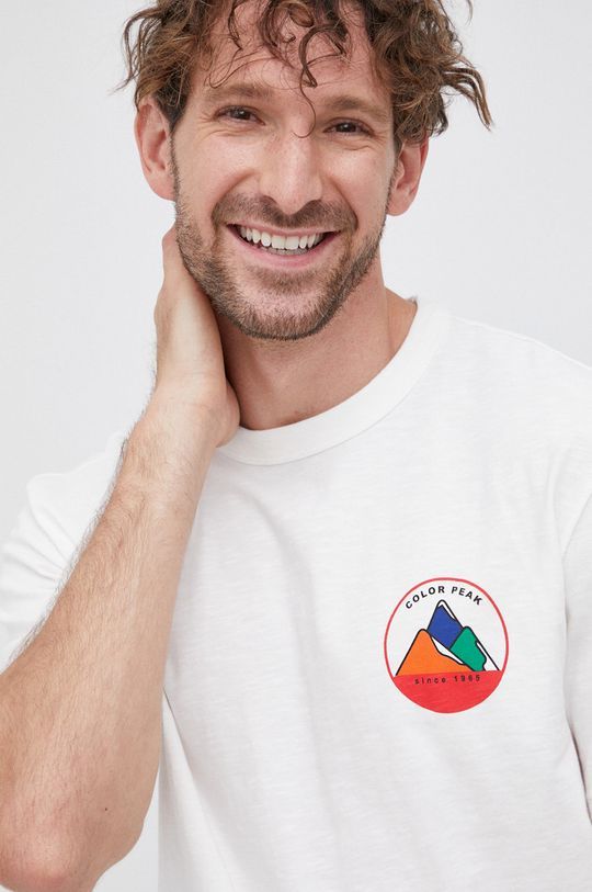 alb United Colors of Benetton - Tricou din bumbac De bărbați