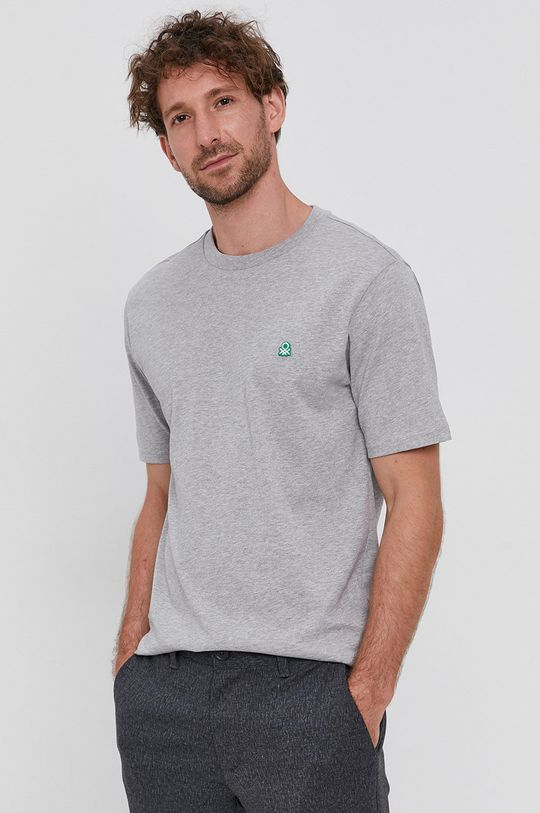United Colors of Benetton - Tricou din bumbac gri