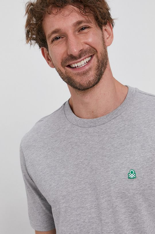 gri United Colors of Benetton - Tricou din bumbac