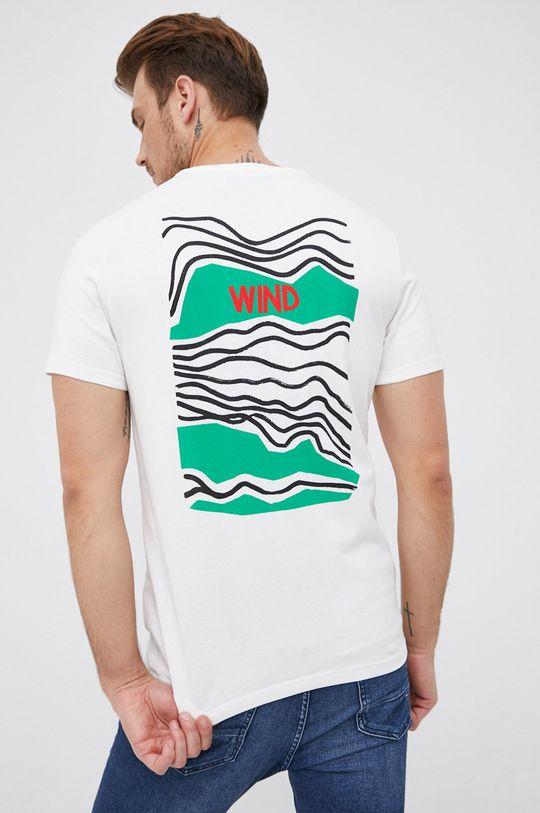 bílá United Colors of Benetton - Bavlněné tričko Pánský