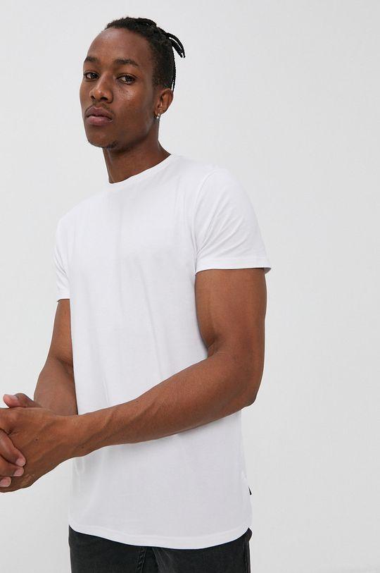 biały Resteröds - T-shirt Męski