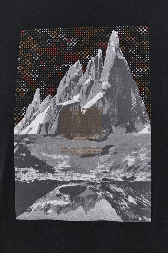 Sisley - T-shirt bawełniany Męski