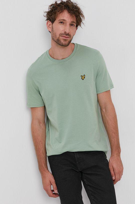 verde pal Lyle & Scott - Tricou din bumbac
