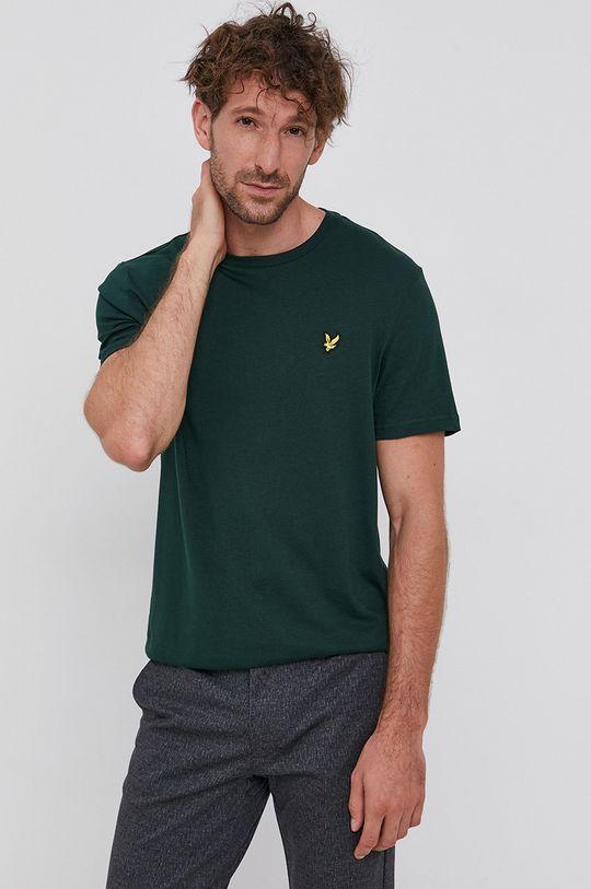 Lyle & Scott - Tricou din bumbac verde inchis