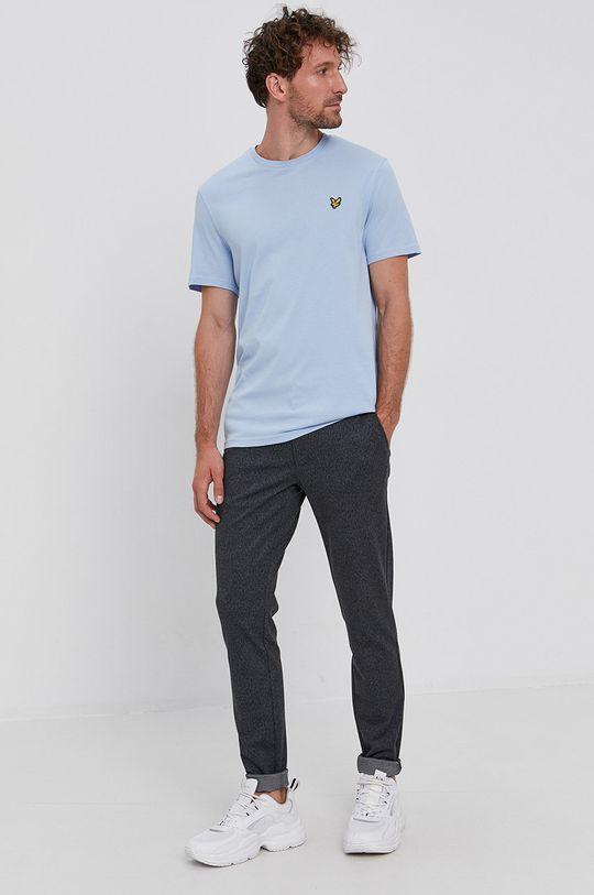albastru deschis Lyle & Scott - Tricou din bumbac De bărbați