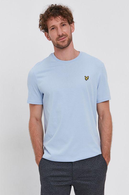 Lyle & Scott - Tricou din bumbac albastru deschis