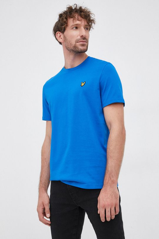 albastru Lyle & Scott - Tricou din bumbac De bărbați