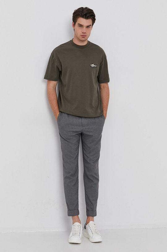 Liu Jo - T-shirt bawełniany militarny