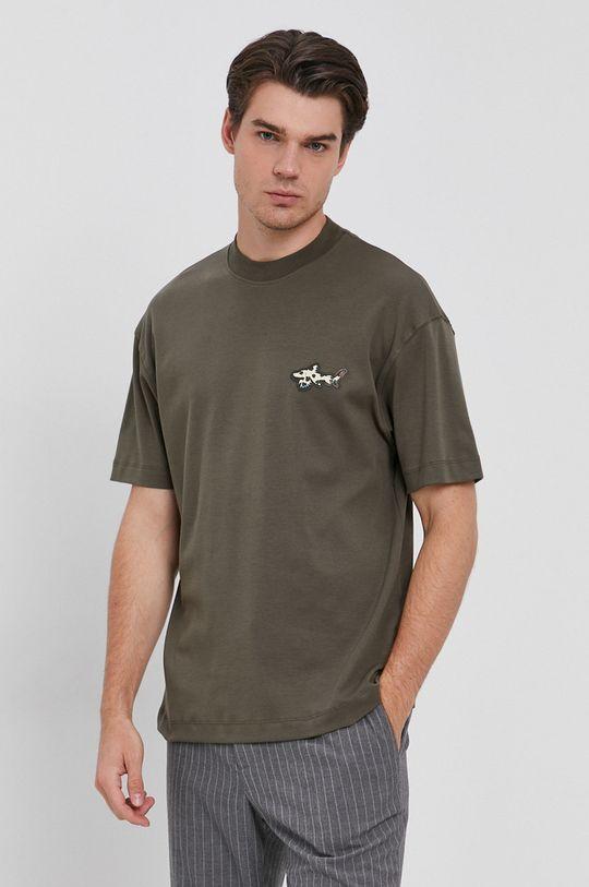 militarny Liu Jo - T-shirt bawełniany