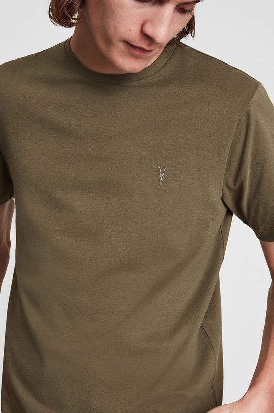 AllSaints - T-shirt bawełniany kawowy