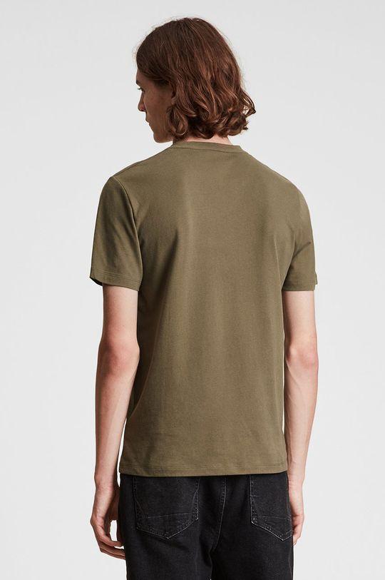kawowy AllSaints - T-shirt bawełniany