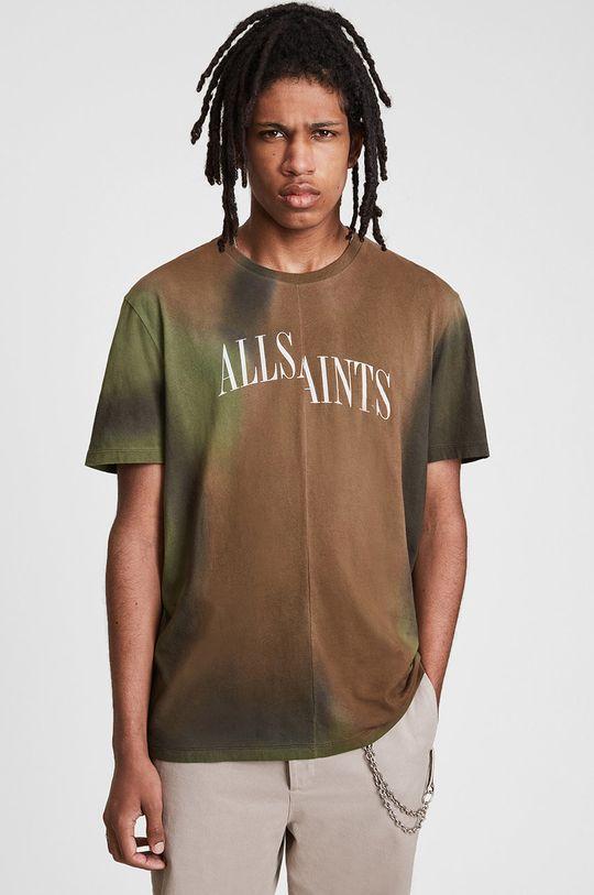 AllSaints - T-shirt bawełniany multicolor