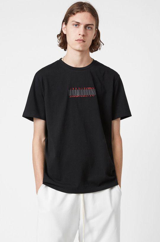 czarny AllSaints - T-shirt bawełniany Męski