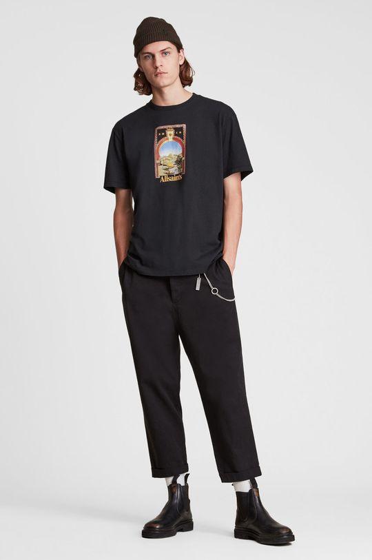 AllSaints - T-shirt bawełniany czarny