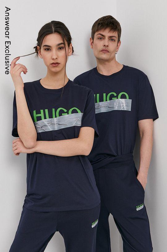 námořnická modř Hugo - Tričko z narozeninové kolekce Unisex