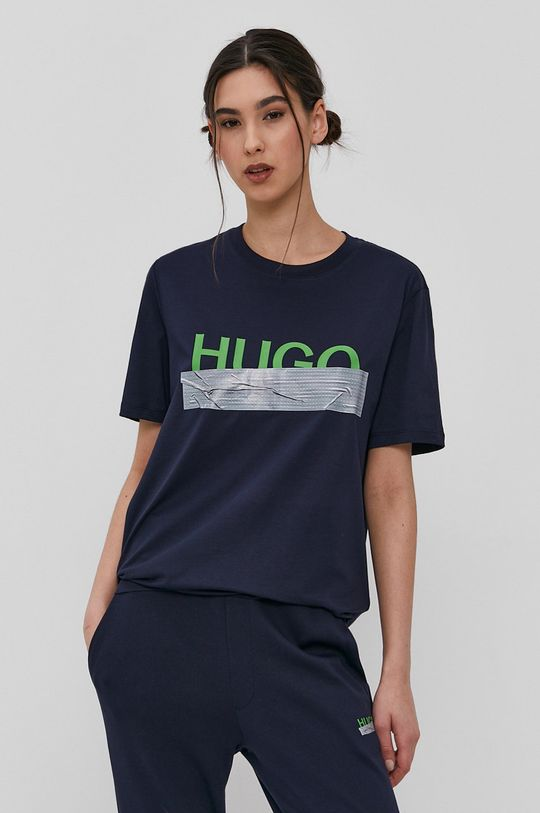 Hugo - T-shirt z kolekcji urodzinowej granatowy