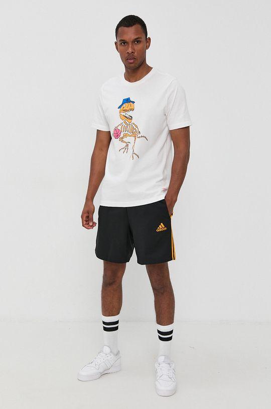 biały adidas Originals - T-shirt bawełniany