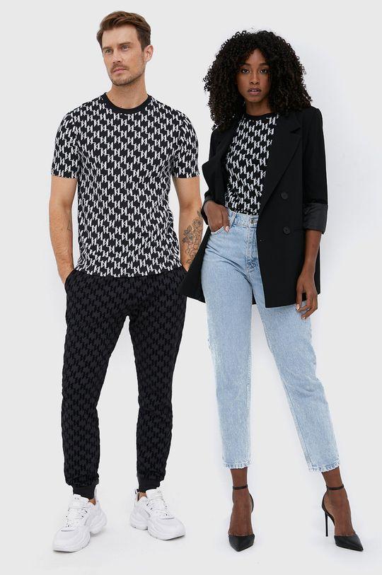 černá Karl Lagerfeld - Bavlněné tričko Unisex