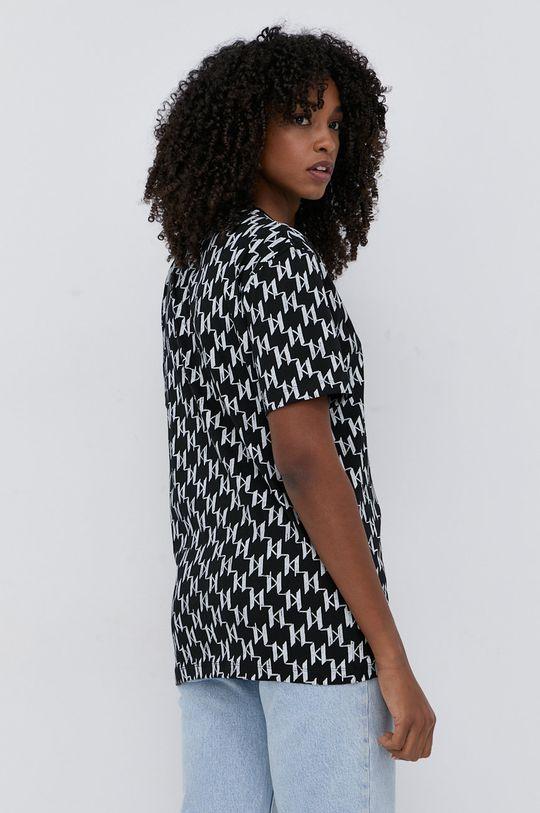 černá Karl Lagerfeld - Bavlněné tričko