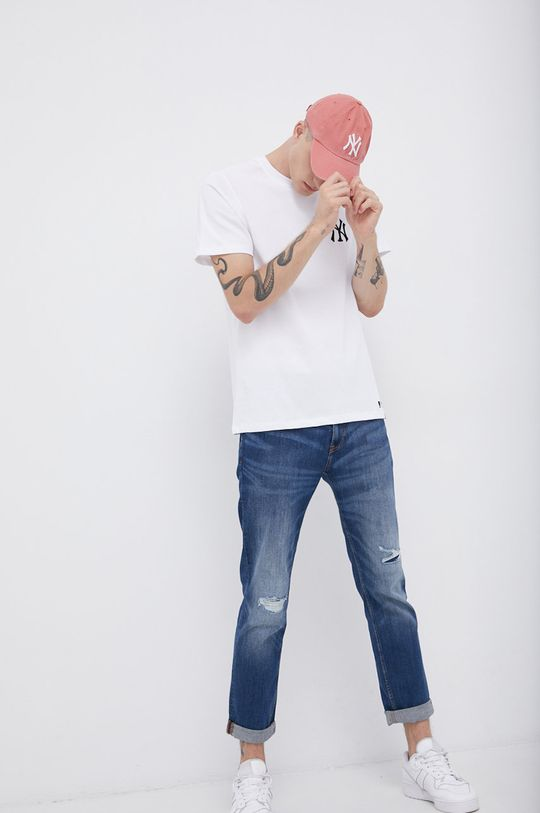 47brand - Bavlněné tričko bílá