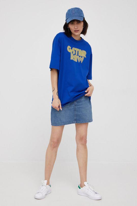 G-Star Raw - T-shirt bawełniany x Snoop Dogg niebieski
