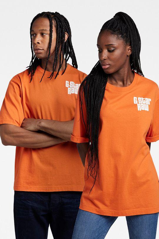 pomarańczowy G-Star Raw - T-shirt bawełniany x Snoop Dogg Unisex