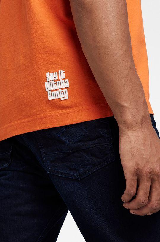 pomarańczowy G-Star Raw - T-shirt bawełniany x Snoop Dogg