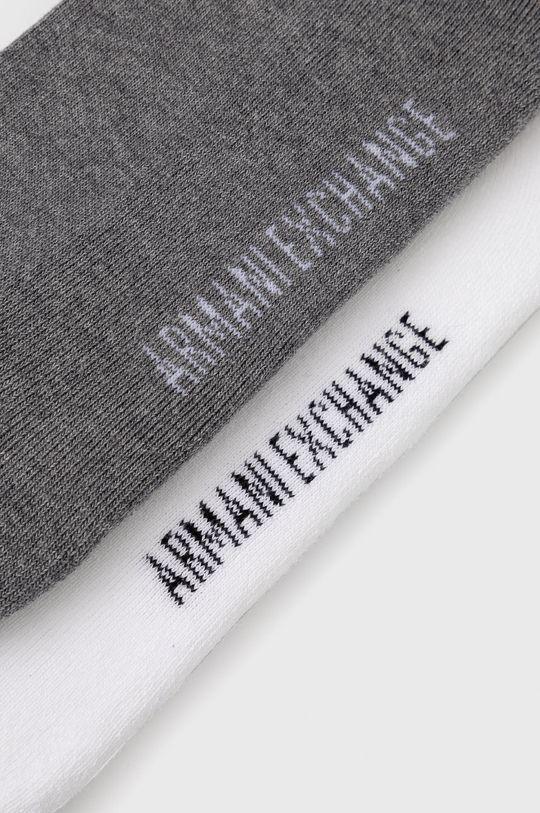 Armani Exchange - Skarpetki (2-pack) biały