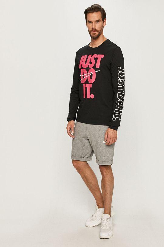 Nike - Tričko s dlouhým rukávem černá
