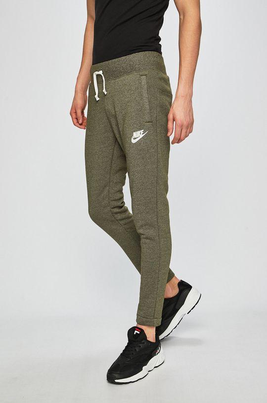 olivová Nike - Kalhoty Pánský