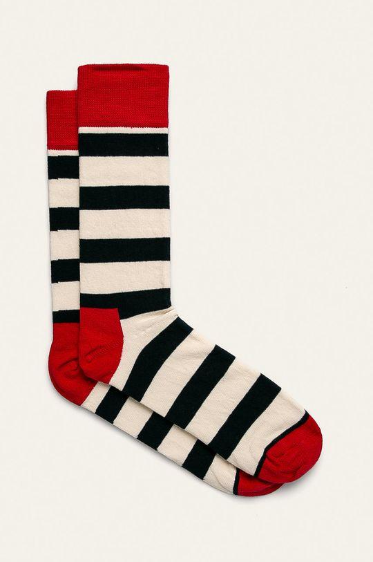 biela Happy Socks - Ponožky Stripe Pánsky