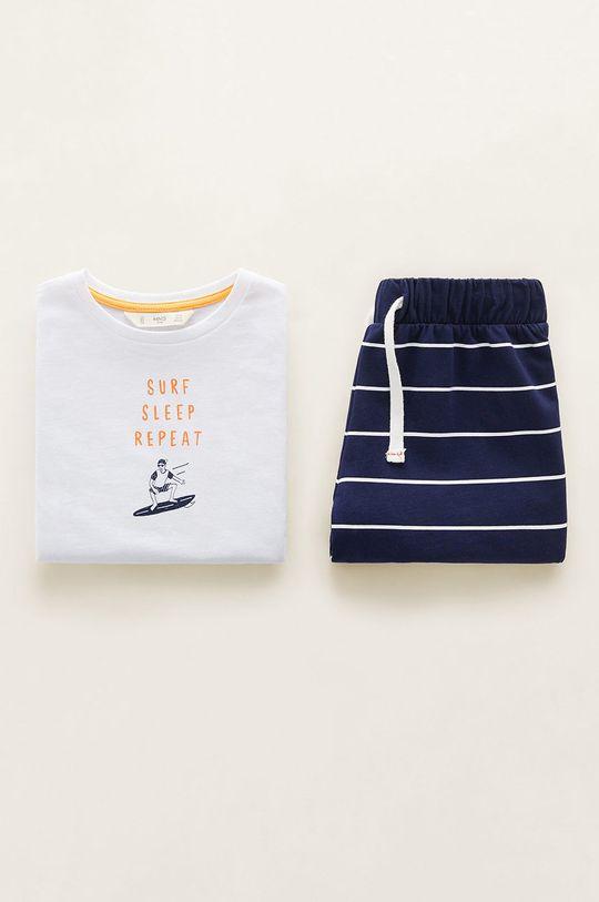 alb Mango Kids - Pijama copii Repeat 110-164 cm De băieți