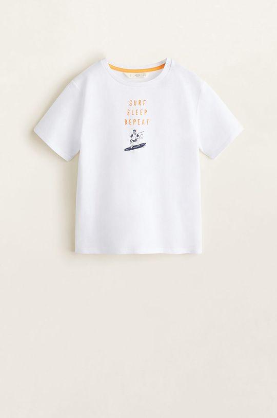Mango Kids - Pijama copii Repeat 110-164 cm alb