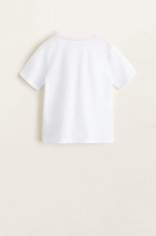 alb Mango Kids - Pijama copii Repeat 110-164 cm