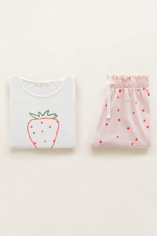 alb Mango Kids - Pijama copii Yummy 110-164 cm De fete
