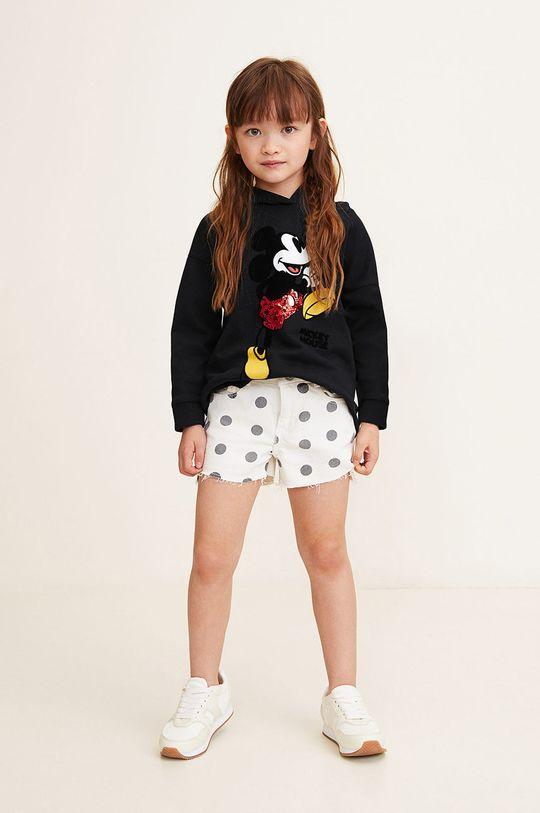 Mango Kids - Bluza copii Mblack 110-164 cm negru