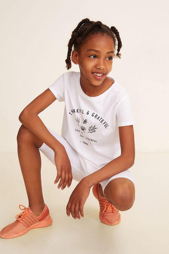 alb Mango Kids - Leggins copii Ella 104-164 cm De fete