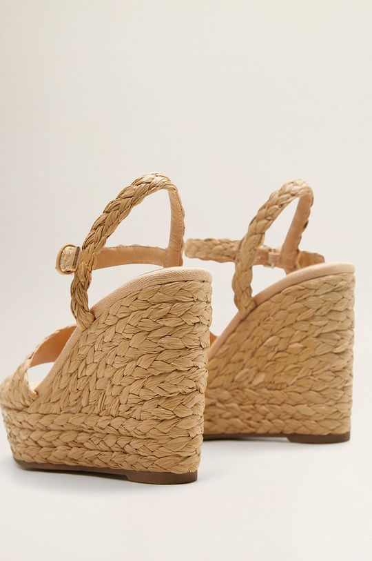 Mango - Sandale Rafi Gamba: Material textil Interiorul: Material sintetic, Material textil Talpa: Material sintetic