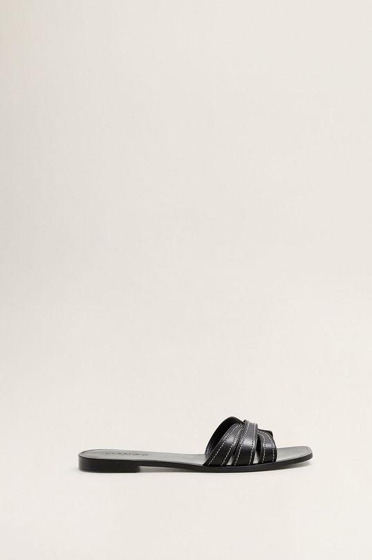 negru Mango - Papuci Dots De femei