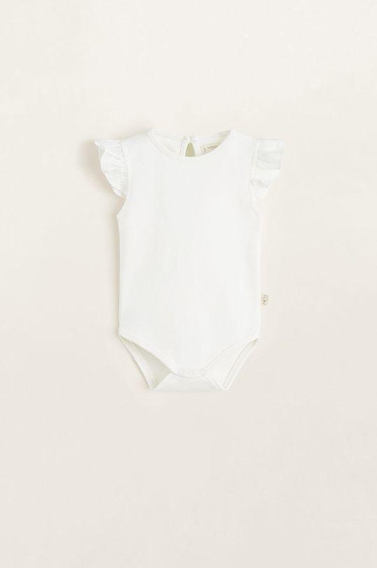 alb Mango Kids - Body copii Laia 62-80 cm De copii