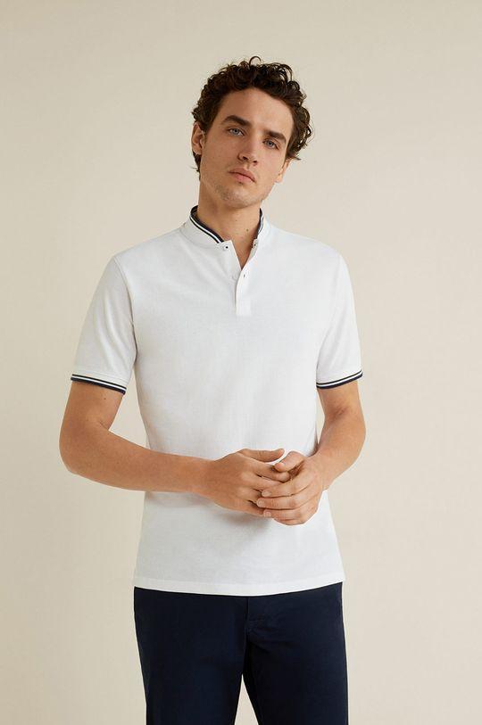 alb Mango Man - Tricou Polo Clover De bărbați