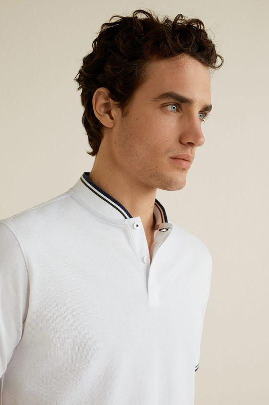 alb Mango Man - Tricou Polo Clover