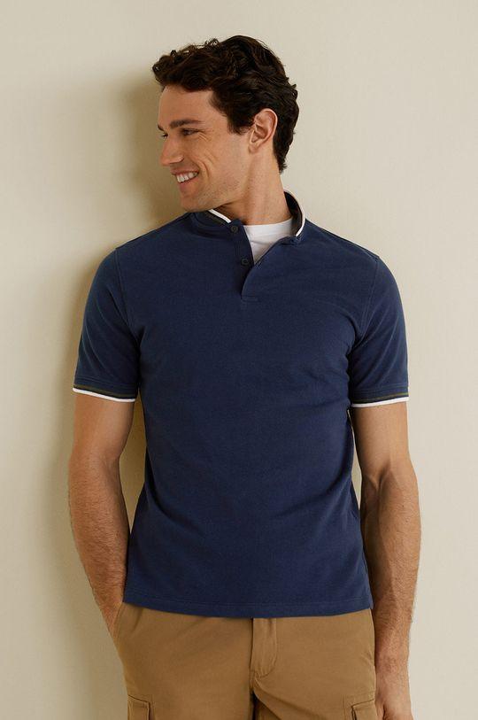 bleumarin Mango Man - Tricou Polo Clover De bărbați