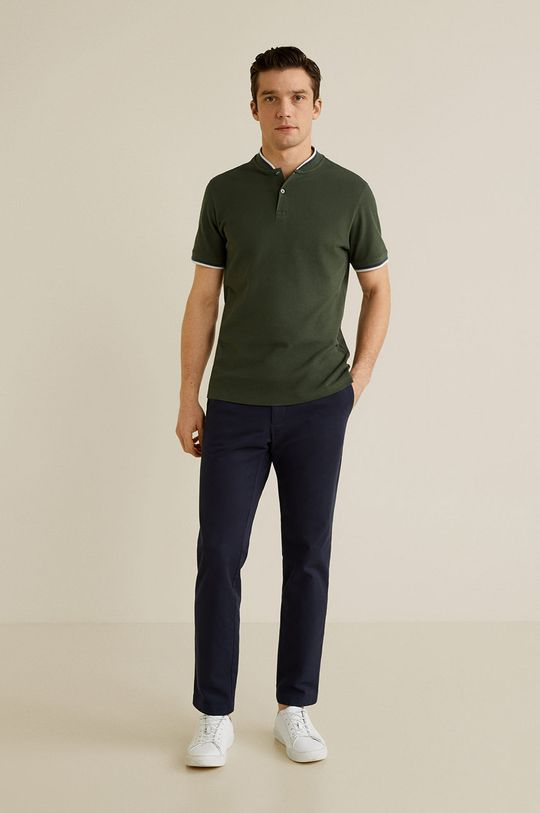 Mango Man - Tricou Polo Clover verde