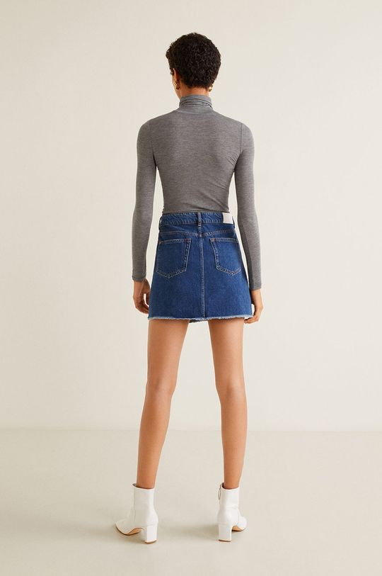 Mango - Fusta jeans Musthave 100% Bumbac